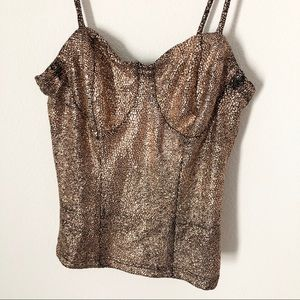 Rose Gold Sparkly Tank (Small)